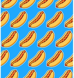 Sticker hot dogs vector