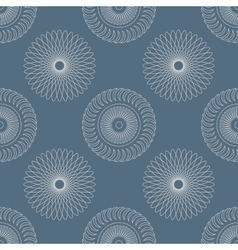 Seamless pattern with circular elements vector