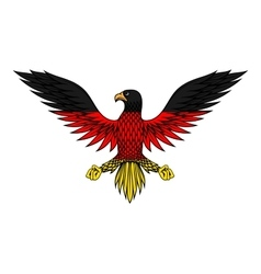 German eagle bird in flag colors vector