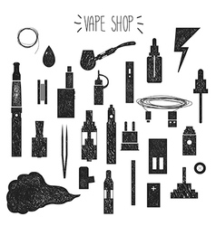 Icons vape hand graphics vector