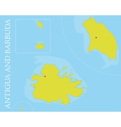 Antigua and barbuda islands map vector