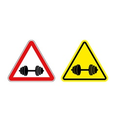 Attention fitness warning sign sport red and vector