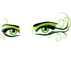 Eyes green vector