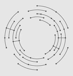abstract circle lines vector image vector image