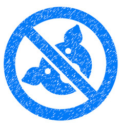 Banned pig icon grunge watermark vector