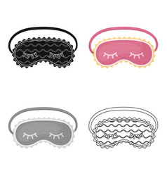 Blindfolds icon in cartoon style isolated on white vector