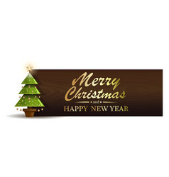 Christmas banner with fir-tree vector