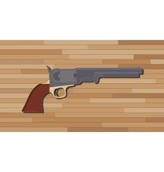 civil war pistols gun with wood table background vector image vector image
