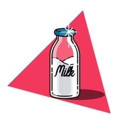 Color vintage Milk emblem vector image