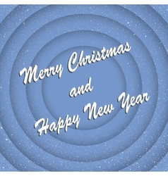 Concentric blue circles new year merry christmas vector