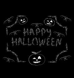 Congratulation happy halloween inscription vector