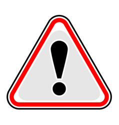 Exclamation point warning attention hazard sign vector