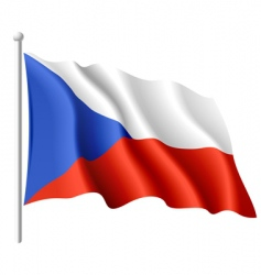 flag of the czech republic vector image vector image