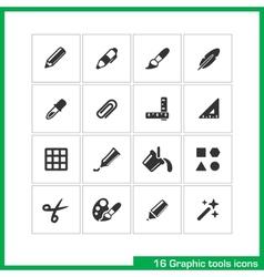 Graphic tools icon set vector image