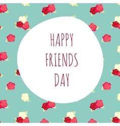 greeting on friendship day vector image