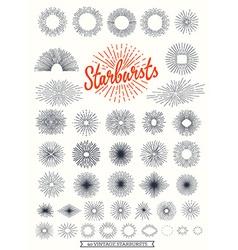 handmade sunburst design elements vector image