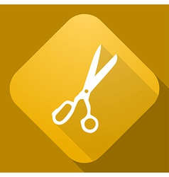 icon of Scissors with a long shadow vector image
