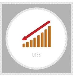 Loss chart5 vector image
