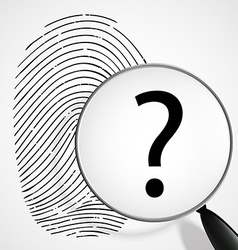 magnifying glass with a question mark and vector image vector image
