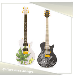 Medical marijuana guitar ten vector