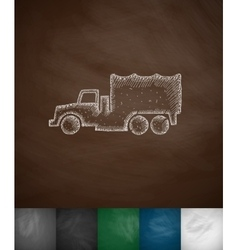 military vehicle icon vector image