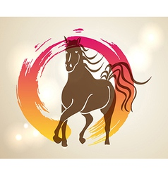 Multicolor chinese new year of horse 2014 zen vector