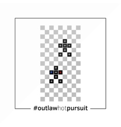 Outlaw hot pursuit - old console game play poster vector