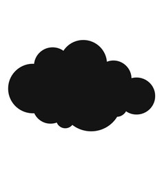 Rare cloud icon simple style vector