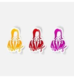 realistic design element dressmaker vector image