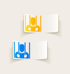 Realistic design element prisoner vector