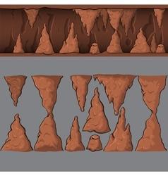 Seamless cartoon cave vector
