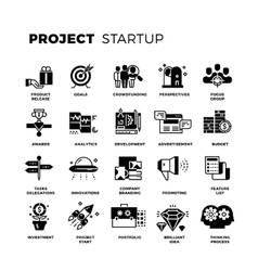 Start up venture capital entrepreneur vector