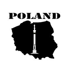 Symbol of poland and maps vector