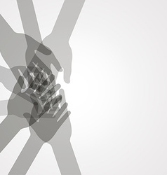 unity hands vector image