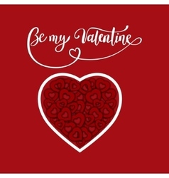 Valentine s day brush pen lettering with heart vector