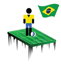 world cup in brasil with football player color vector image vector image