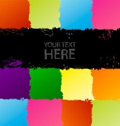 grunge spectrum background vector image
