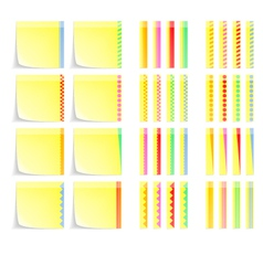 Set of postit labels with decorative border vector