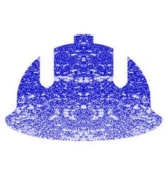 Construction helmet grunge textured icon vector