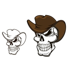 Cowboy skull in hat vector