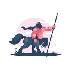 Character centaur with spear vector