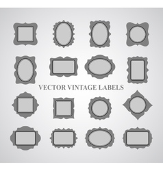 Set of vintage frames and design elements - vector image