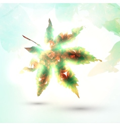 Abstract autumn leaf vector
