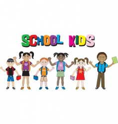 Kids school vector
