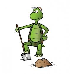 turtle shoveler vector image