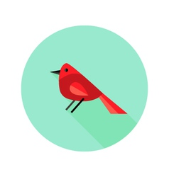 Christmas bird bullfinch flat icon vector