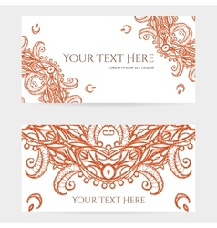 Cards with intricate henna patterns vector