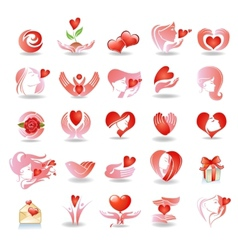 Emblems on love vector image