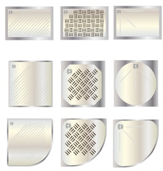 Bathroom shower tray top view set 7 for interior vector