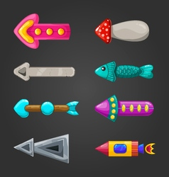 Set of fantastic arrows vector